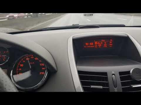 Peugeot 207 Мгновенный расход топлива 90 км/ч