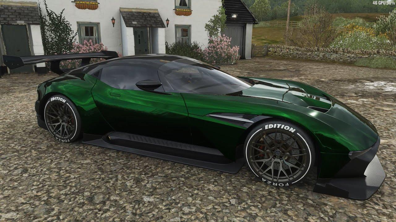 Forza Horizon 4 2016 Aston Martin Vulcan Forza Edition Car Show Speed Jump Crash Test Youtube
