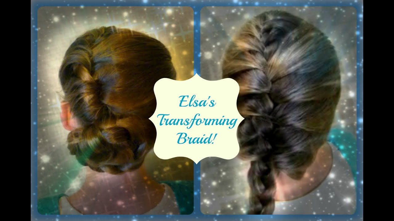 Elsa's Transforming Updo And Braid, Disney's Frozen Hairstyles  Youtube