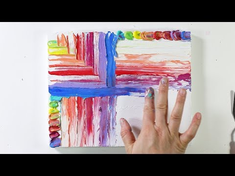 Finger Painting with Acrylics--Satisfying!