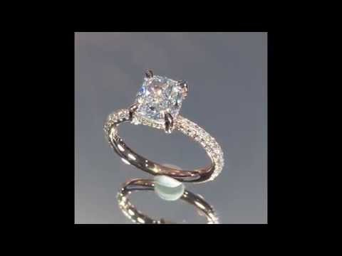 1.60 ct Cushion Cut Diamond Engagement Ring in Rose Gold