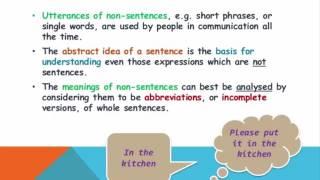 Unit 2: Sentences, Utterances, and Propositions