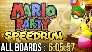 Mario Party All Boards Speedrun in 6:05:57 (Hard)