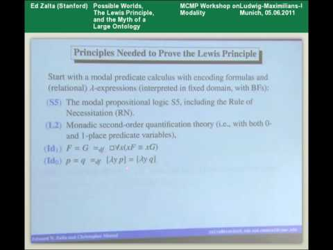 Edward N. Zalta - Possible Worlds, The Lewis Principle and the Myth of a Large Ontology