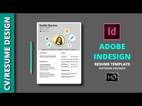 How To Create A CV RESUME Template In Indesign