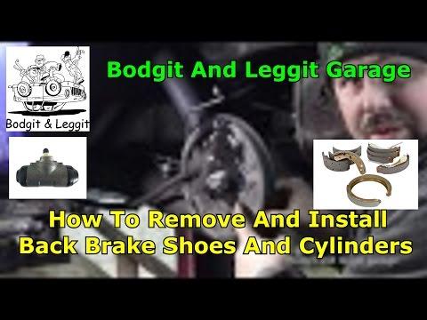 2010 Fiat Panda Back Brake Shoes And Cylinders Bodgit And Leggit Garage