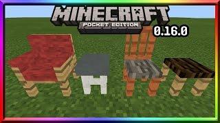 ✔0.16.0 เพิ่ม เก้าอี้นั่งได้ Minecraft Pe 0.16.0 BUILD 5
