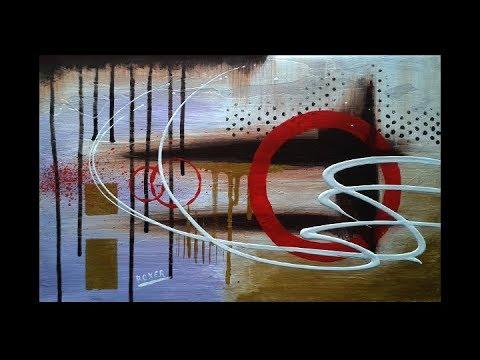 Abstract acrylic painting - Original art - Sense by Roxer Vidal