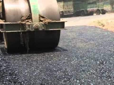 Road Constructed with Plastics Waste  in Kalyani , West Bengal, India