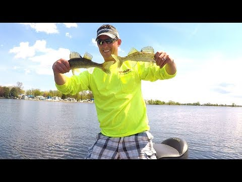 Wolf River - Dragging Jigs for Eater Walleyes!