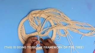 DIY 'TREE OF LIFE' DREAM CATCHER | Make a dream catcher from scratch | Easy DIY