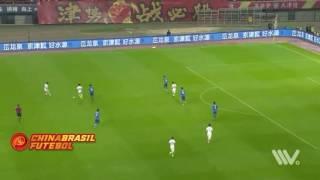 Video Gol Pertandingan Tianjin Quanjian vs Shanghai Shenhua
