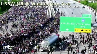 Tanker truck drives into crowd of Minneapolis protesters