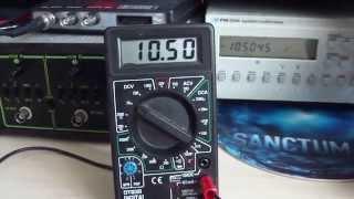 Multimetr DT838 - porównanie pomiaru napięcia stałego (DC V; 10V; zakres do 20V)