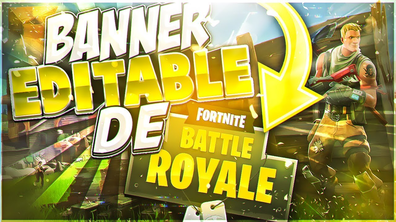 Banner Epic Editable de Fortnite Battle Royale //FREE ...