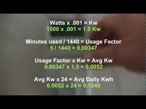 Step 1 Solar/Wind Power: Determining your electrical require