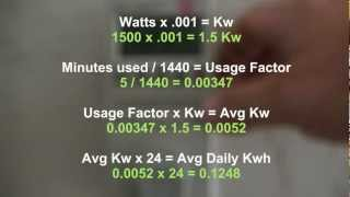 Step 1 Solar/Wind Power: Determining your electrical requirements