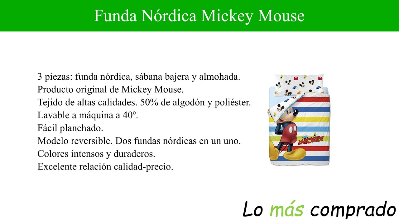 Funda Nordica Mickey Y Minnie Beso.Funda Nordica Mickey Mouse Alta Calidad Lomascomprado Com