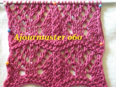 Ajourmuster 060*Stricken lernen*Borte*Muster für Pullover*Mütze*Kreativ Tutorial Handarbeit