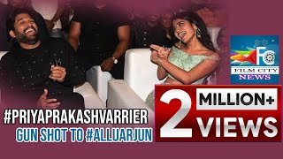 #PriyaPrakashVarrier gun shot to #AlluArjun at Lovers Day movie audio launch || FILM CITY