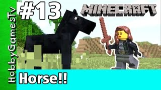 Minecraft Trixie 13 Black Stalion Horse Bridge Pig Hunt HobbyPig by HobbyGamesTV
