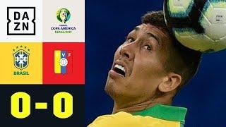 Roberto Firmino und Co. stolpern gegen Außenseiter: Brasilien - Venezuela 0:0 | Copa America | DAZN