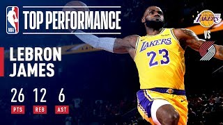 LeBron James Fills The Stat Sheet In Laker Debut | October 18, 2018