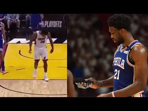 See Justise Winslow BREAK Joel Embiids Face Mask! Where Was The Technical?!