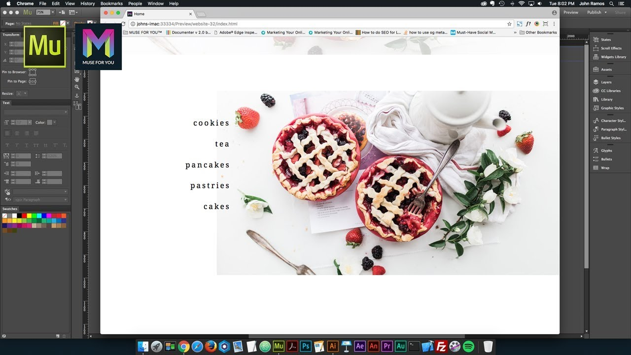Creating a Hover Slideshow in Adobe Muse - Tutorial