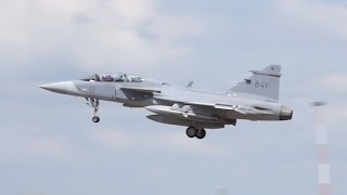 JAS-39C Gripen Swedish Air Force arrival on Wednesday RIAT 2014