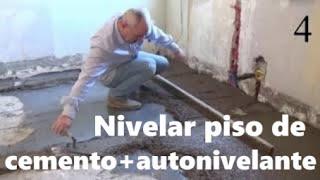 Solera de cemento + mortero  autonivelante, Solera de hormigón