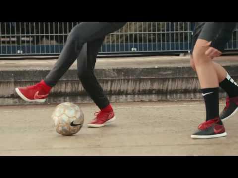 Nike street football skill and technique.Tutorail ,Training from Begining Work Hard