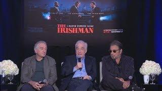 THE IRISHMAN - Press Conference w Al Pacino, Martin Scorsese, Robert De Niro