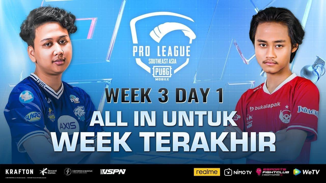 PMPL SEA Championship S4   Week 3 Day 1   EVOS & BTR ALL IN UNTUK WEEK TERAKHIR!