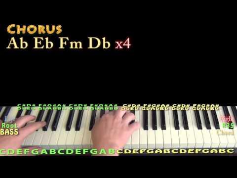 Paparazzi (Lady Gaga) Piano Lesson Chord Chart