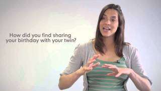 ▶ The Best Thing About Being a Twin  l  Mothercare