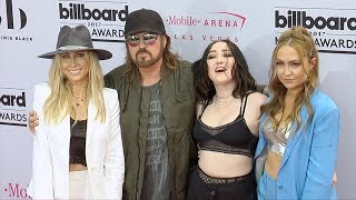 Billy Ray Cyrus, Tish, Noah and Brandi Cyrus 2017 Billboard Music Awards Magenta Carpet