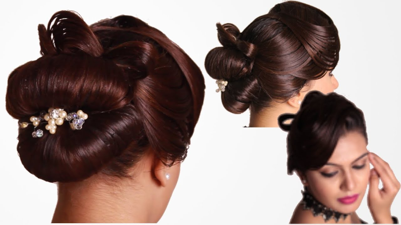 Hairstyle French Knot with Vintage Waves - YouTube