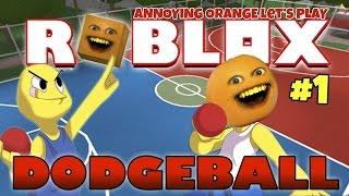 annoying orange plays roblox dodgeball 1