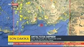 Antalya'da DEPREM !! 28.12.2013 (Son Dakika)