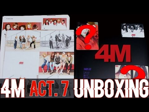 """4MINUTE - ACT. 7 (7th Mini Album) (UNBOXING) """"BIGGER THAN I THOUGHT!?"""""""