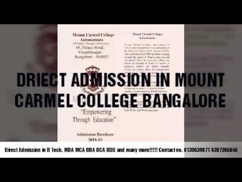 Mount carmel pu college admission -19