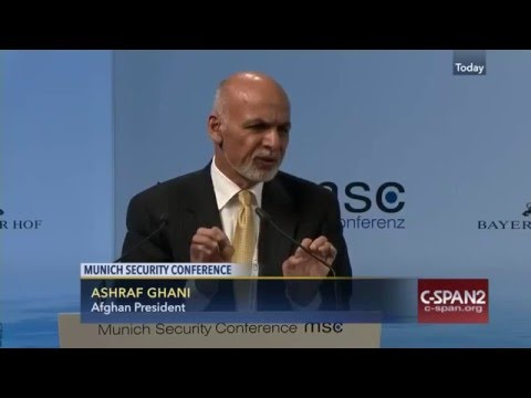 Remarks by H.E. Mohammad Ashraf Ghani at Munich Security Conference