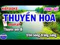 Karaoke Thuyền Hoa Tone Nữ Nhạc Sống Cha Cha