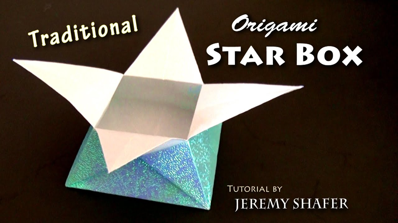 traditional origami star box youtube