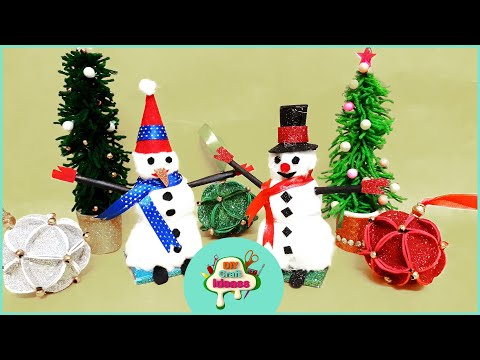 DIY SNOWMAN   Very Easy   How to Make   Christmas Craft for Kids   Arush diy craft ideas