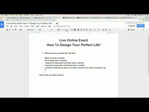 Live Online Event: How To Design Your Perfect Life!