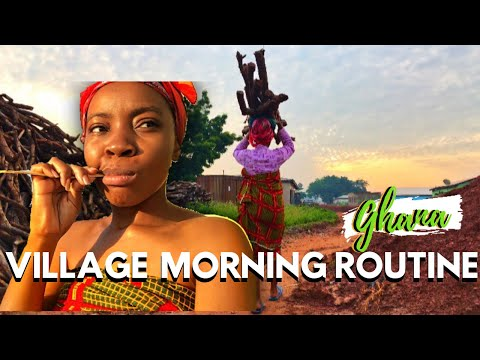 DAILY LIFE IN AN AFRICAN VILLAGE,THE GHANA YOU DON'T SEE ANYWHERE, Ghana village morning routine Ep2