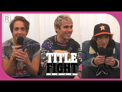 How Many Waterparks Songs Can Awsten, Geoff & Otto Name In 1 Minute? - Title Fight