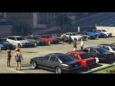 Gta V Bmw Cars Meet In Gta 5 Youtube